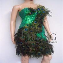 vegas showgirl Peacock costume