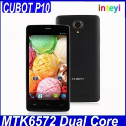 China Cheap 5.0 inch IPS Andriod phone Cubot P10 mobile phone MTK572 Android 4.2 1GB+8GB, 1800Mah battery