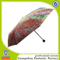 beautiful design flower painting travel umbrella for lady
