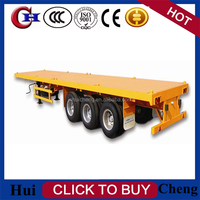 with 6 tires For Sale made in ChinaTri-axle 40ft Flatbed Container Semi Truck Trailer