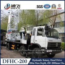 200m Depth Hydraulic Truck Mounted Drilling Rig Machine DFHC-200