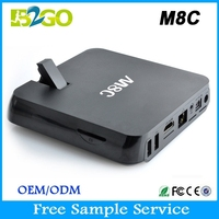 High quality open sky box hd receiver 5.0MP camera quad core android amlogic s802 m8c tv box