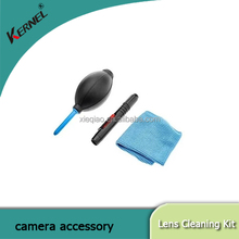 Kernel 3 in 1 Lens Cleaning Cleaner Dust Pen Blower Cloth Kit For DSLR VCR Camera