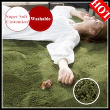polyester microfiber luxury home textile modern round rug