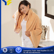 applique china wholesale 100% cotton bath towels bamboo charcoal