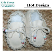 Handmade felt baby shoes european trendy soft sole baby leather shoes with bow