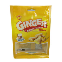 side gusset ginger coconut candy bag with flat bottom
