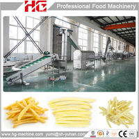 304 stainless steel china automatic industrial frozen french fries large production line