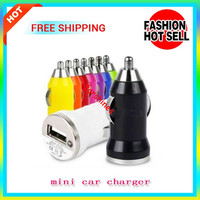Mini USB Car Charger USB Charger Universal Adapter for iphone 5 4 4S 6 Cell Phone PDA MP3 MP4 player mobile phone i9500 s3 m7