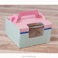 China factory personalised decorative custom cupcakes perth wholesale chocolate cake boxes with window wholesale cake boxes uk