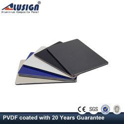 Alusign 4mm pvdf marble finish decorative aluminium composite panel coverings