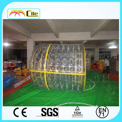 CILE 2015 Giant Yellow line Inflatable water roller ball for sale