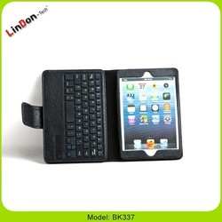 PU leather keyboard case for ipad mini, leather case with keyboard for 7.9 inch tablet