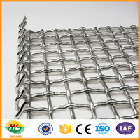 stainless steel crimped wire mesh/square hole mesh