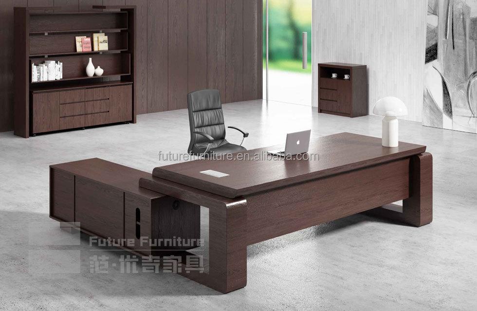 canada market modern wooden oak veneer office boss exclusive furniture