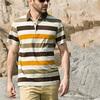 2014 cheap good quality pique polo shirt, men striped polo shirt