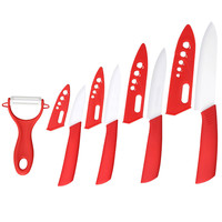 High Hardness Sharp ABS Handle Royalty Line Knife Colorful Non-stick Coating Food Safe Kitchen Cutting Knife Set Fruit Peeler