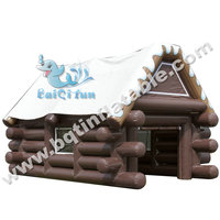 Promotion Inflatable wooden House tent event use