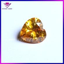 Hot sale!The most fashion Golden Heart Shape Cubic Zircon,CZ