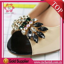 2015 hot sale crystal clips ornaments for ladies shoes