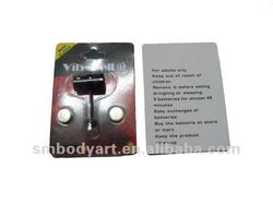 Black anodized vibrating tongue piercing with good package