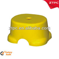 Plastic stacking low bath stools