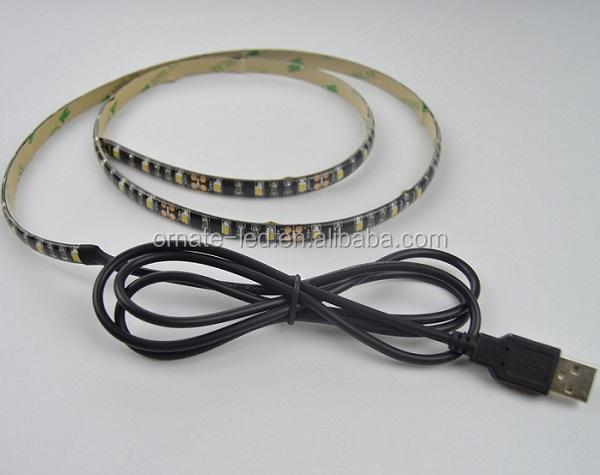 IP20 IP65 DC5V 3528 60leds/m usb powered led light strip