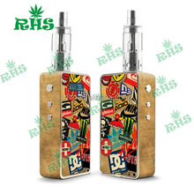 2015 vape mod best e cig dual 18650 Temp control variable wattage box mod Authentic snowwolf white v2 Asmodus Snow wolf 200W