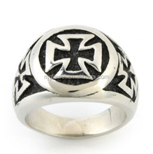 Cheap signet cross ring custom made 3D Design for approval before production
