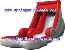 Red inflatable water slide with pool commercial grade Inflatable water slide SP-PS030