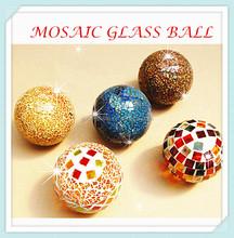 Silvery Garden Yard Glass Decor Gazing Mosaic blown glass gazing balls for gardens