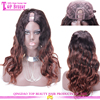 Wholesale Remy Indian Fashion Wigs 180% Density Color 1b/33 U Part Wig Ombre Color