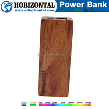 Wooden power bank 5000mah A Gift Lipstick Mobile power supply charging source wood carved portable power pack
