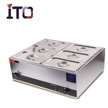 CI-080 Table-top Stainless Steel Electric Bain Marie Food Warmer / Soup Warmer for Restaurant