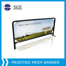 Roll material supplier! full color printing vinyl pvc mesh fence banners