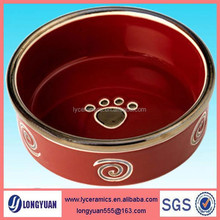 Fashion design ceramic pet bowl for food and water