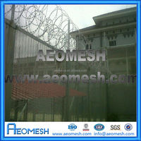 Y Top Post Razor Barbed Wire High Security Anti-climb 358 Fence For Prison