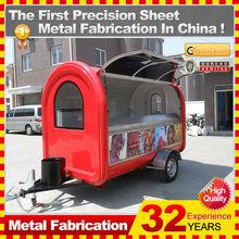 2014 Profesional personalizada trailer comida rápida carrito comidas móbil