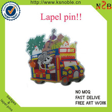2015 Cheapest gift item offset printing car logo Lapel Pin with Butterfly