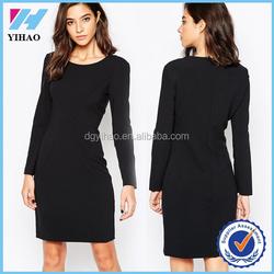 Online shopping women dress black bodycon dress for elegant women