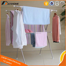 Balcony Staniless Steel X-type Clothing Clothes Rack, Stainless Steel Clothesline
