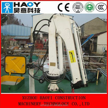 8 ton electric hydraulic marine deck cranes with 4 folding arms,ship boat used for sale