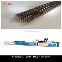 Foshan SKR machinery water transfer printing pattern PVC plastic stone profiles making machine line