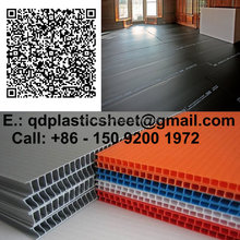 Black Polypropylene Corflute Plastic Sheet for Protection