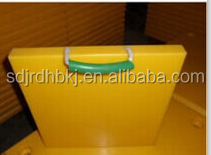 Road textured surface plastic mats/ recycled material uhmwpe crane mats/ anti-slip ground protection pads