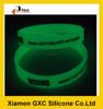 12mm customized glow in dark silicon bracelet