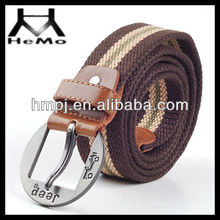 high quality 100% cotton canvas military belt with multicolor for wholesale