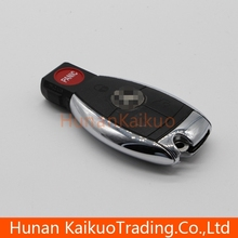 Good quality remote smart key with 3+1 button car key for old Mercedes-Benz car, remote cover with bright border