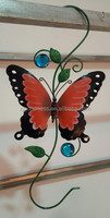 Powder Coated Metal Red Butterfly Wall hook