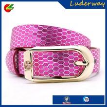 Sparkling new style real genuine python snake skin leather money belt